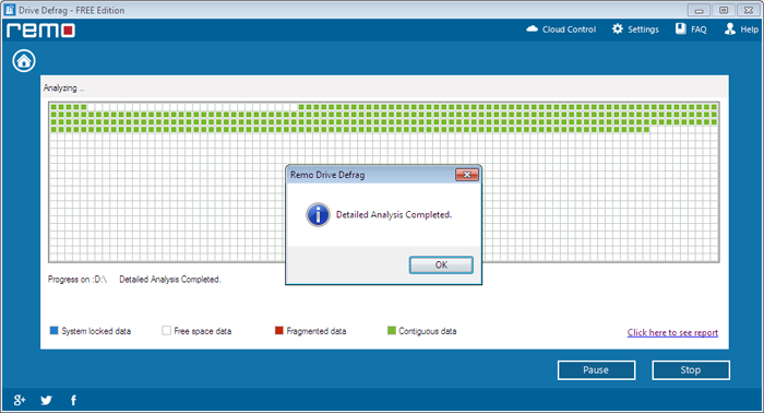 How to Defrag Windows 8 Laptop - Completion of Analysis process