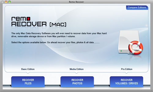 Laptop Disk Recovery - Main Screen